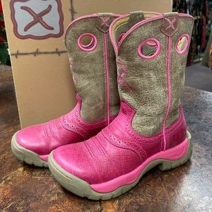 NEW Twisted X Pink Cowboy Boots All Around Cancer